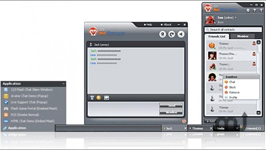 123 Web Messenger Server Software for Mac - review, screenshots