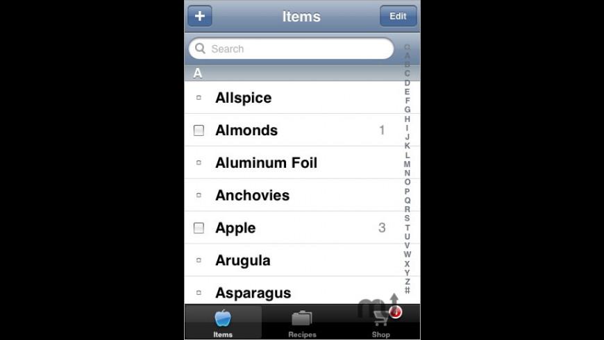GroceryZen for Mac - review, screenshots