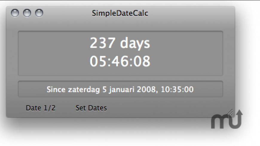SimpleDateCalc for Mac - review, screenshots