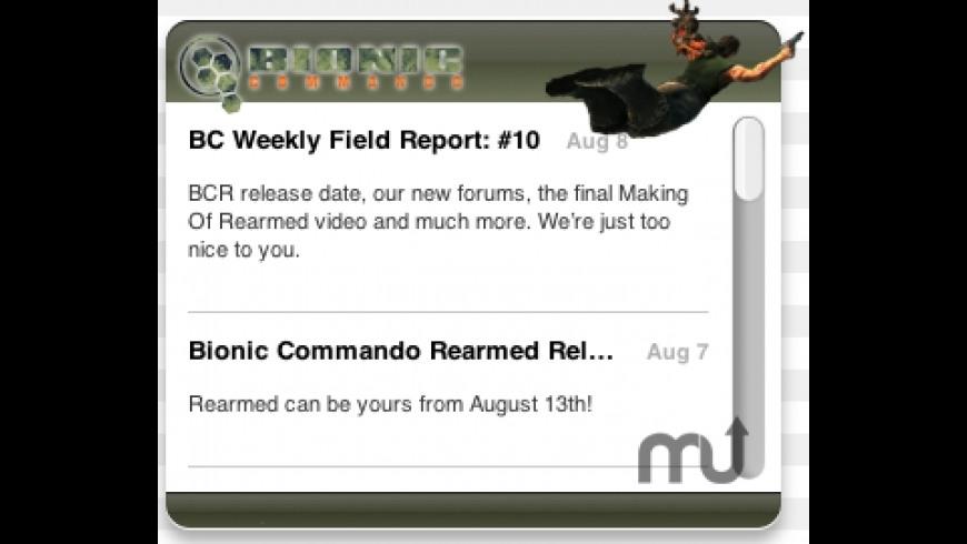 Bionic Commando Widget for Mac - review, screenshots