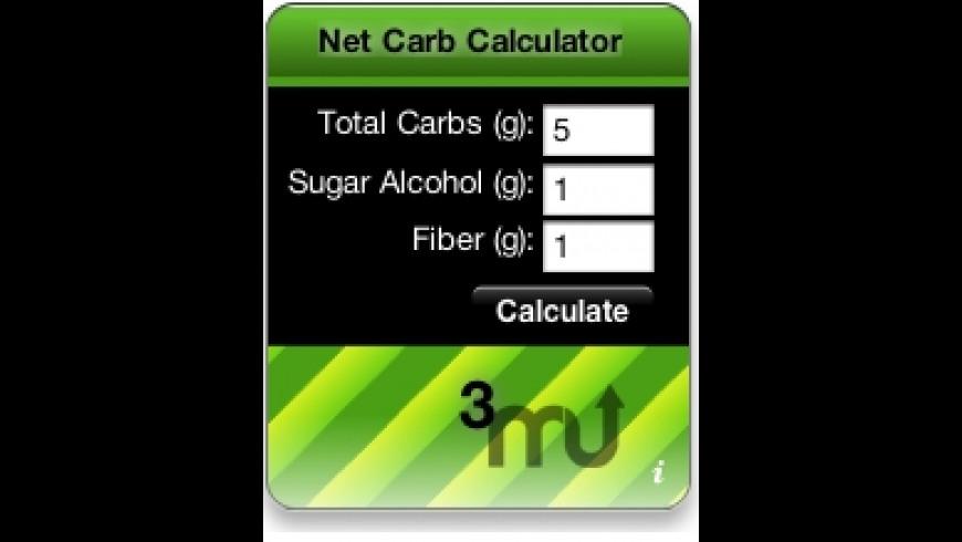 Net Carb Calculator Widget for Mac - review, screenshots