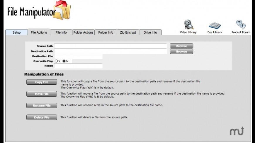 File Manipulator for Mac - review, screenshots