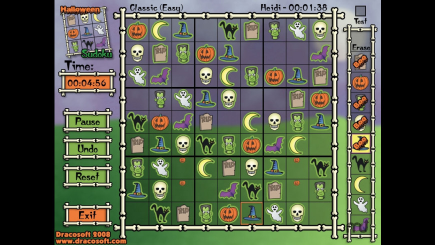 Halloween Sudoku for Mac - review, screenshots