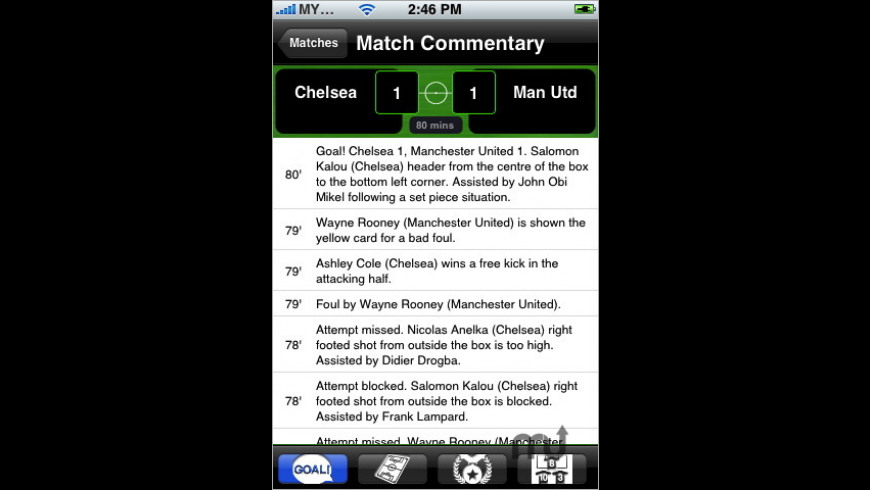 EPL Live! for Mac - review, screenshots