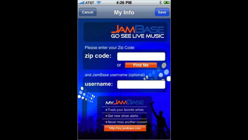 JamBase for Mac - review, screenshots