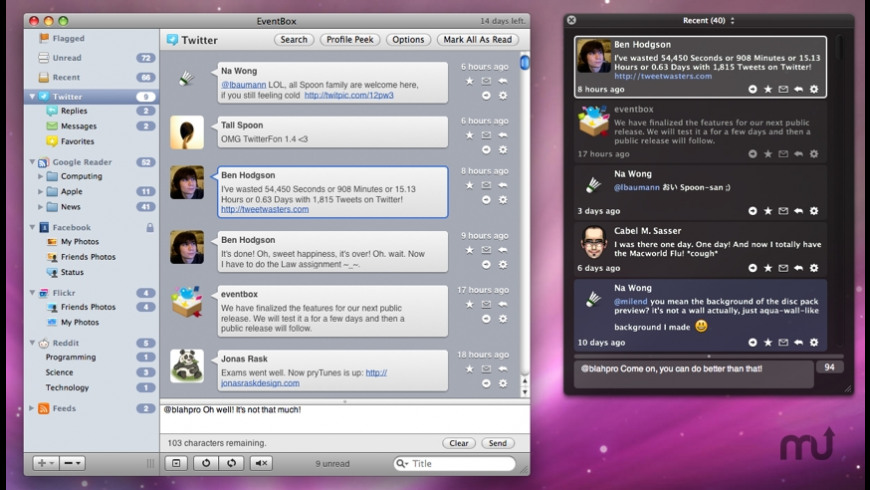 Socialite for Mac - review, screenshots