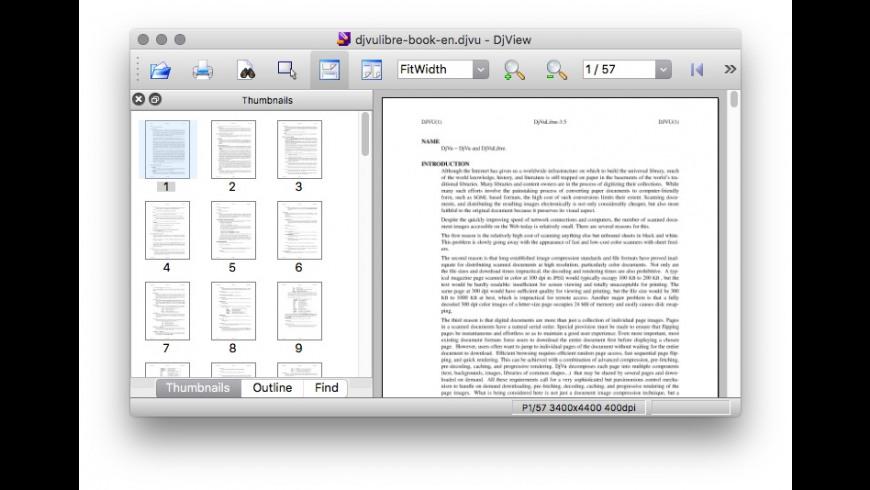 DjVuLibre for Mac - review, screenshots