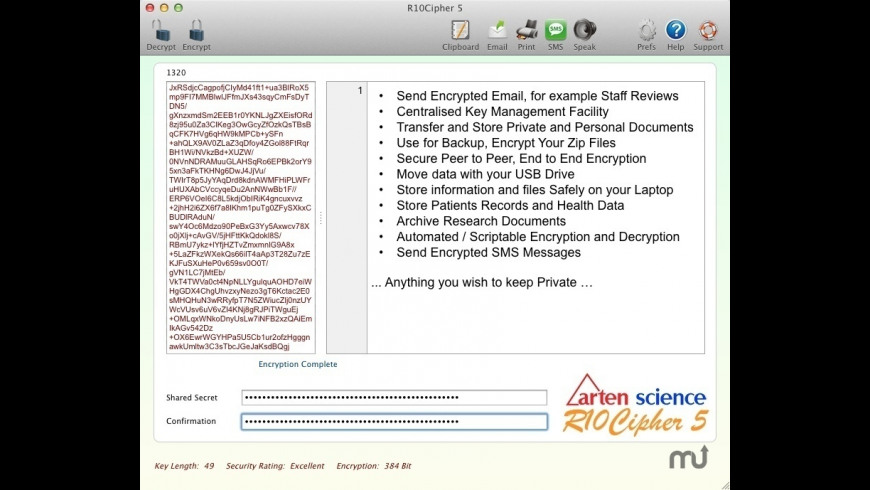R10Cipher for Mac - review, screenshots