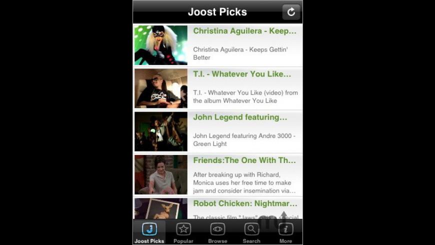 Joost for Mac - review, screenshots