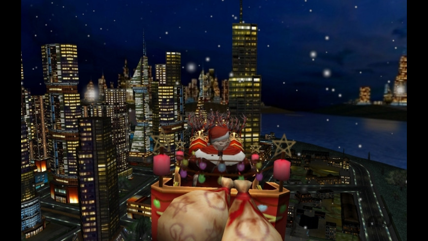 Santa and the City 3D Christmas Screen Saver for Mac - review, screenshots