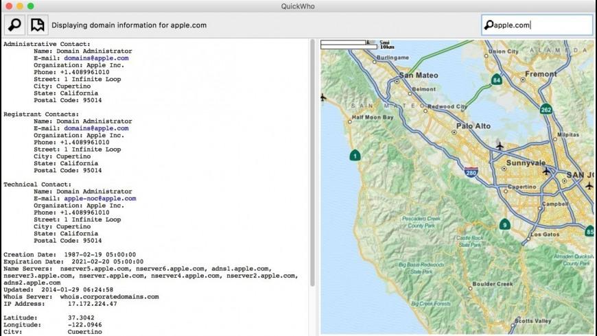 QuickWho for Mac - review, screenshots
