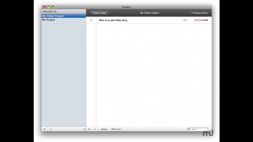 Project for Mac - review, screenshots