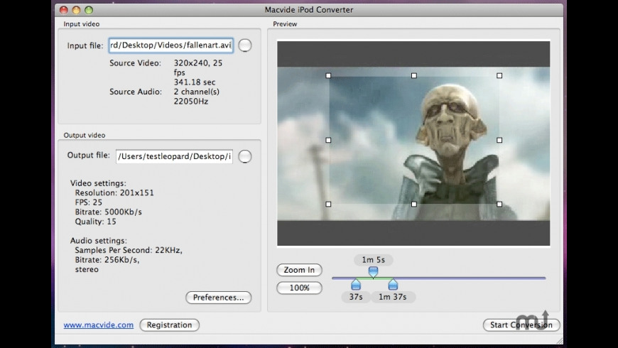iPod Converter for Mac - review, screenshots