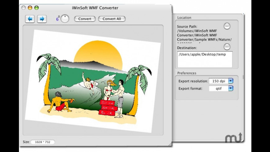 WMF Converter for Mac - review, screenshots