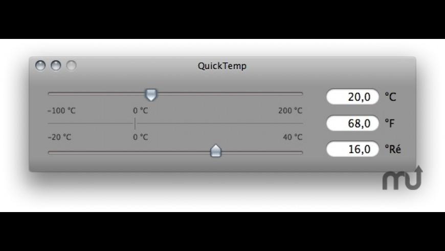 QuickTemp Desktop for Mac - review, screenshots