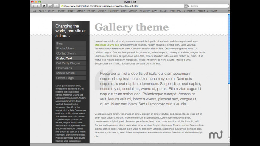 Gallery Theme for Mac - review, screenshots