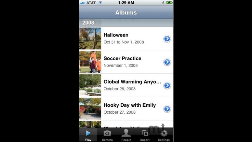 Phanfare for Mac - review, screenshots
