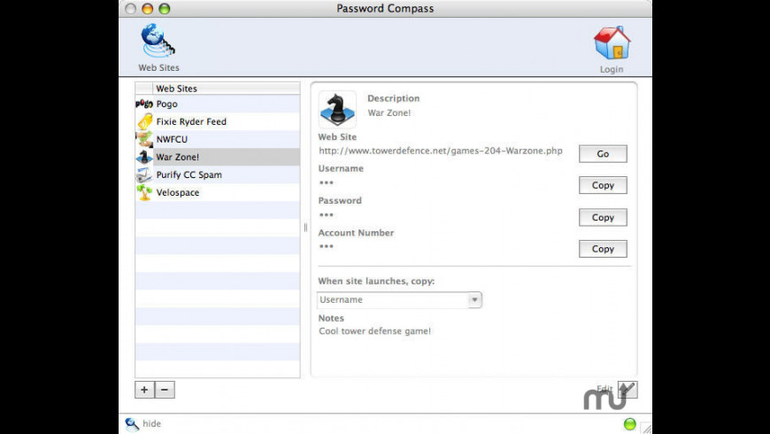 Password Compass for Mac - review, screenshots