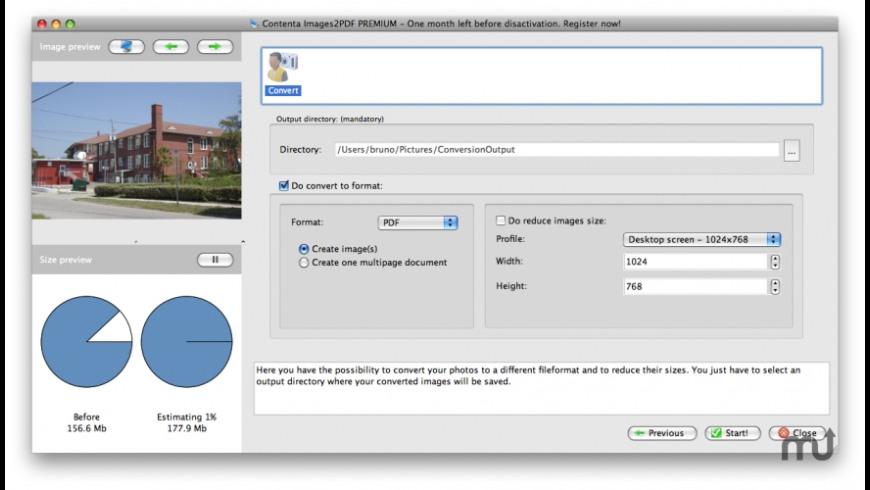 Contenta Images2PDF for Mac - review, screenshots