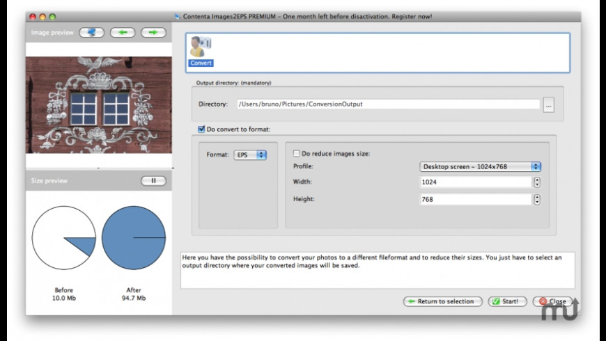 Contenta Images2EPS for Mac - review, screenshots
