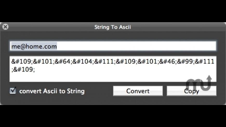 StringToAsciiConverter for Mac - review, screenshots