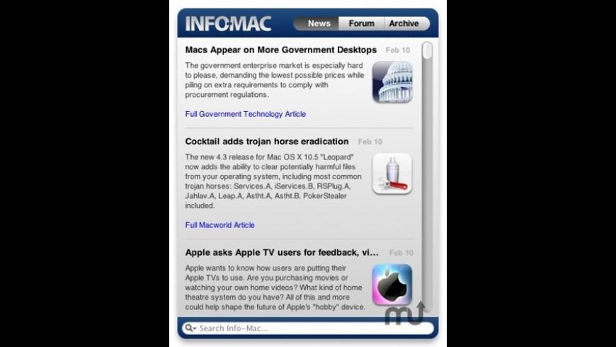 Info-Mac Widget for Mac - review, screenshots