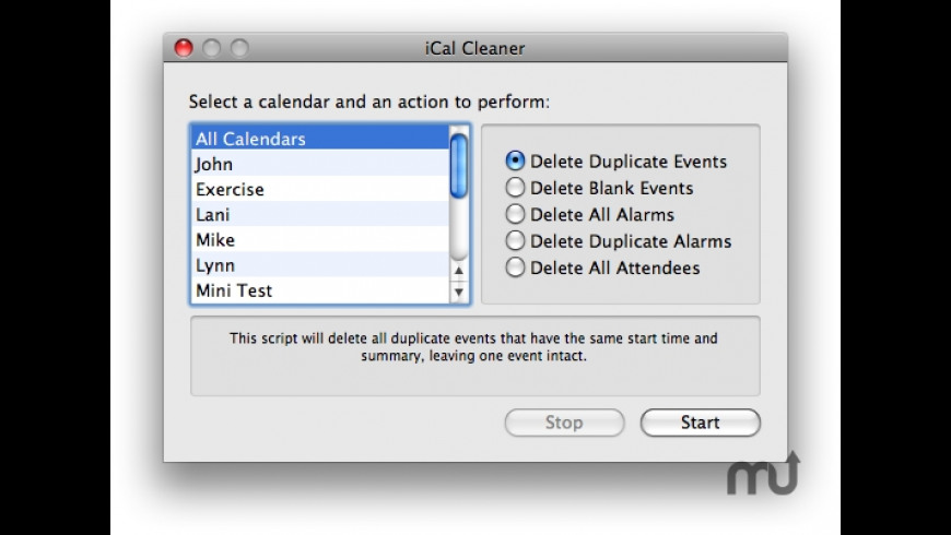 iCal Cleaner for Mac - review, screenshots