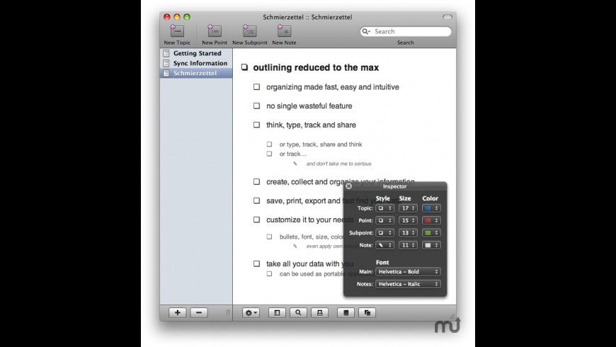 Schmierzettel for Mac - review, screenshots