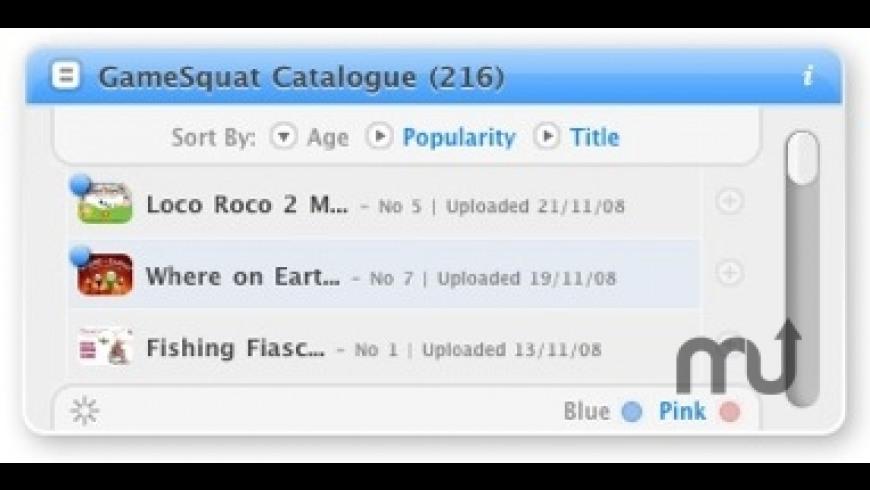GameSquat Widget for Mac - review, screenshots