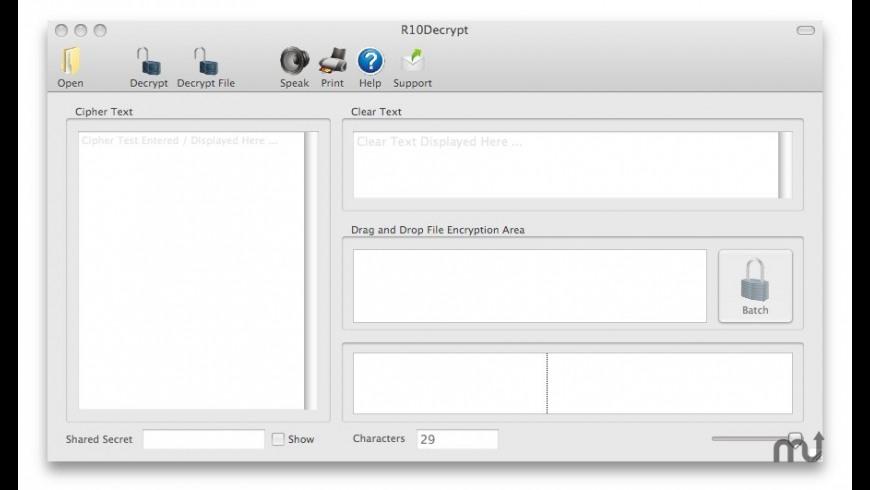 R10Decrypt for Mac - review, screenshots