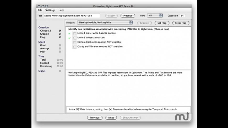 Adobe Photoshop Lightroom 5 ACE Exam Aid for Mac - review, screenshots