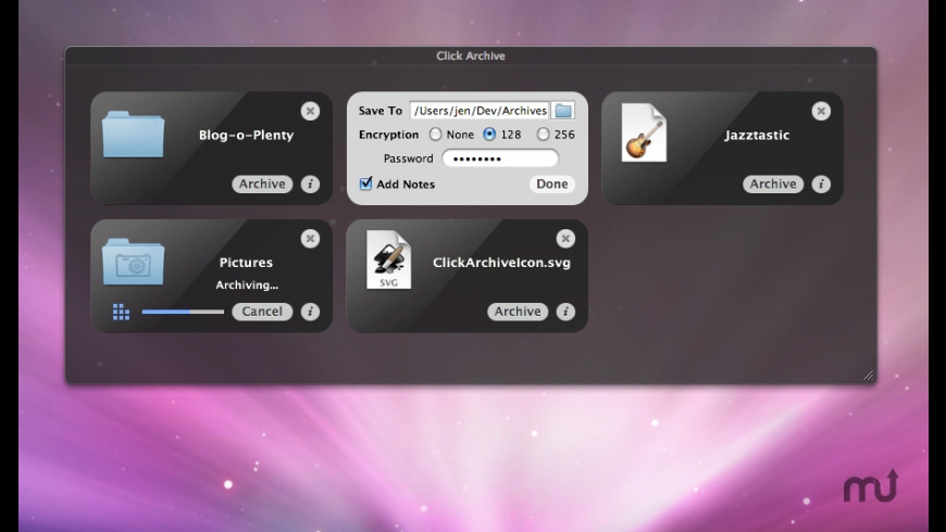 Click Archive for Mac - review, screenshots