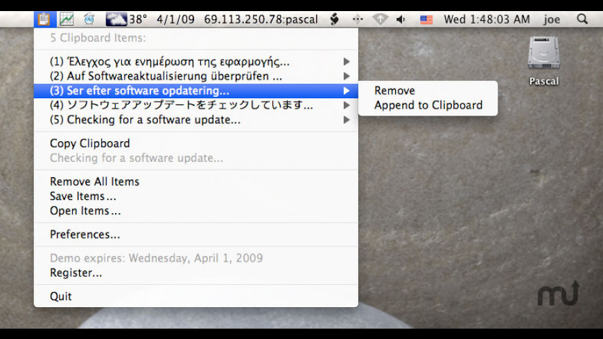 ClipList for Mac - review, screenshots