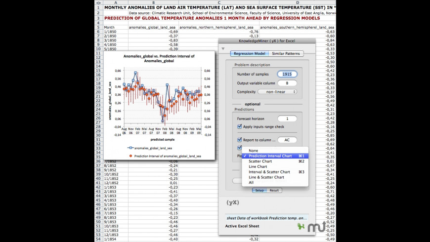 KnowledgeMiner (yX) for Excel for Mac - review, screenshots