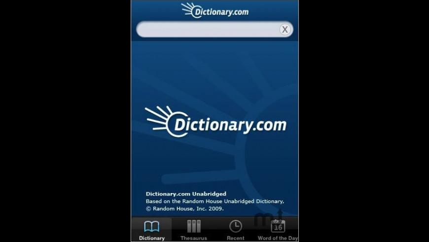 Dictionary.com for Mac - review, screenshots