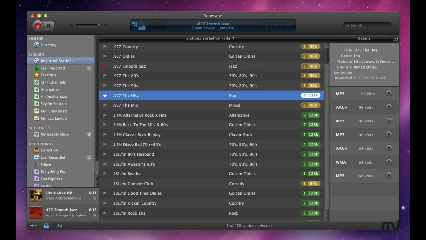 Snowtape for Mac - review, screenshots