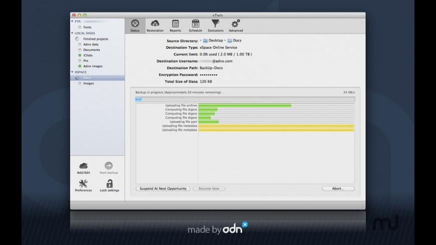 xTwin for Mac - review, screenshots
