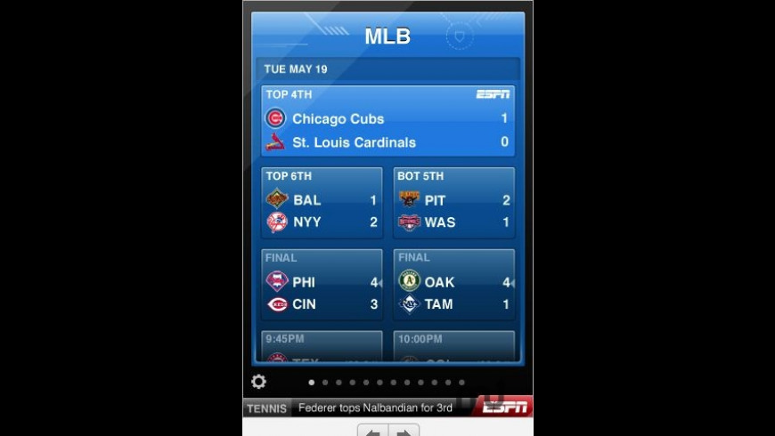 ESPN ScoreCenter for Mac - review, screenshots