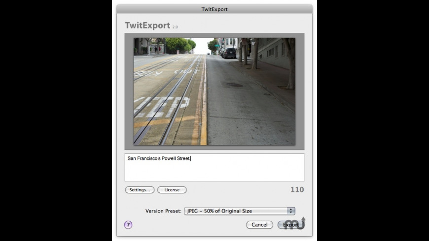 TwitExport for Mac - review, screenshots