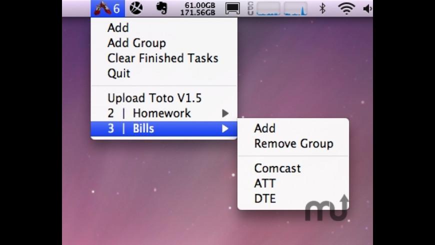 Toto for Mac - review, screenshots