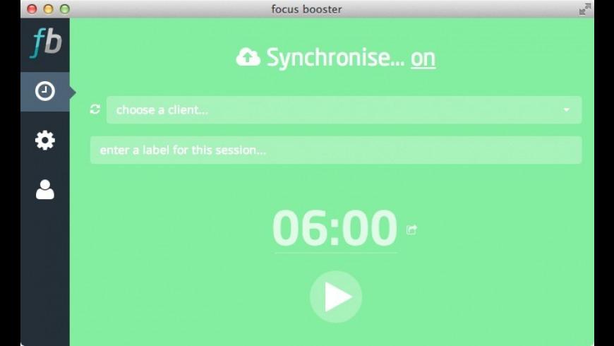 focus booster for Mac - review, screenshots