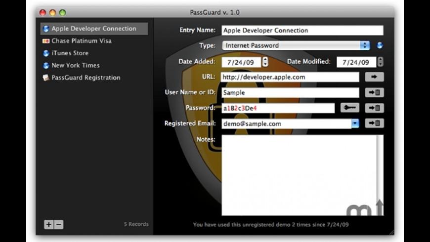 PassGuard for Mac - review, screenshots