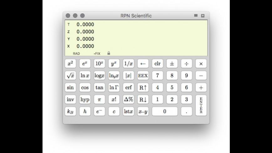 RPN Scientific for Mac - review, screenshots