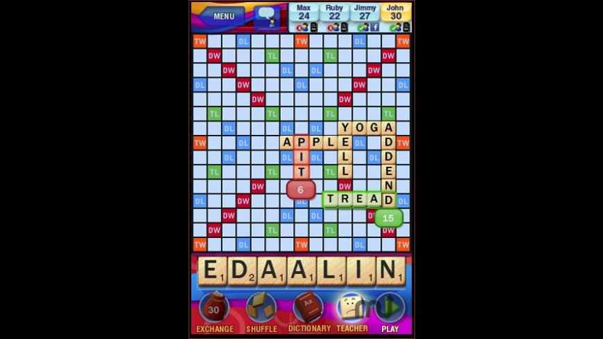 SCRABBLE for Mac - review, screenshots