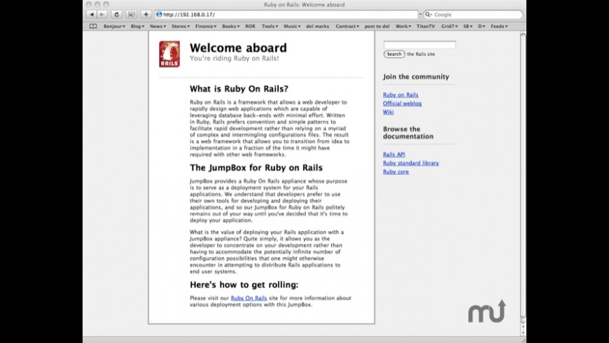 JumpBox for Ruby on Rails for Mac - review, screenshots