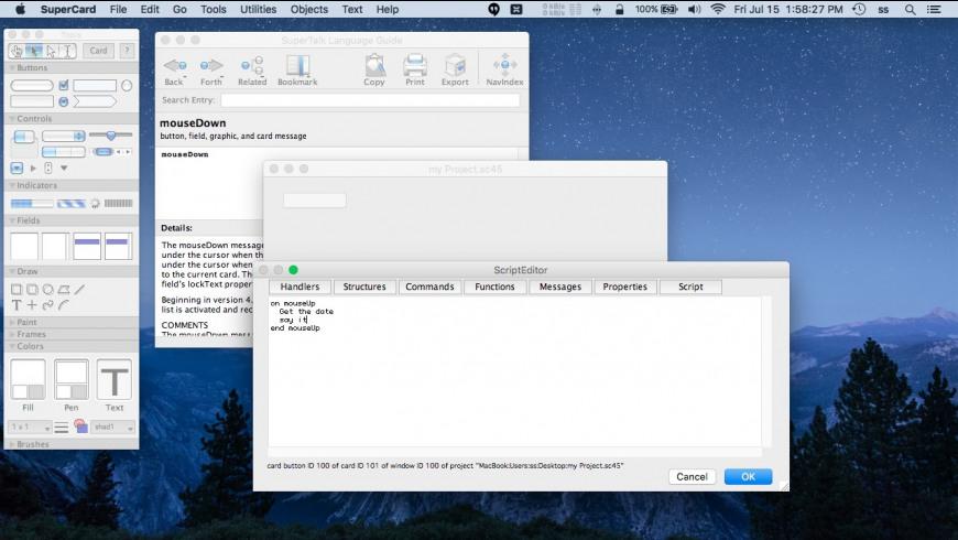 SuperCard for Mac - review, screenshots