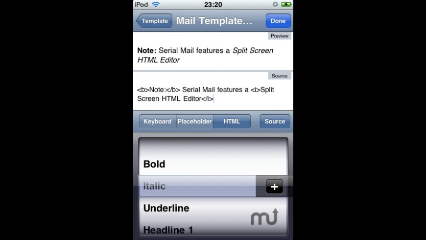 Serial Mail (with HTML) for Mac - review, screenshots