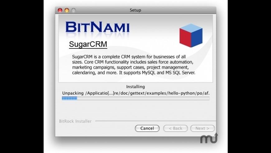 BitNami SugarCRM Stack for Mac - review, screenshots