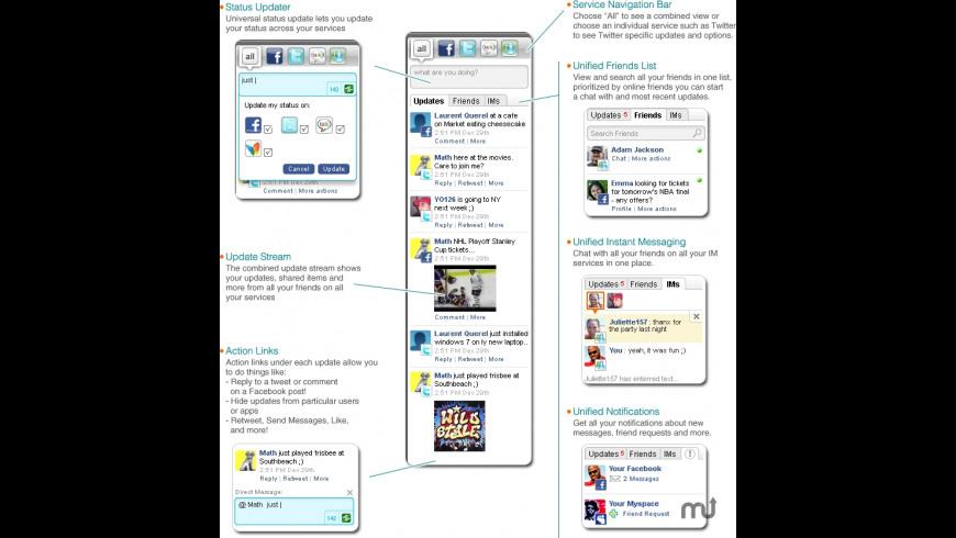 Yoono Desktop for Mac - review, screenshots