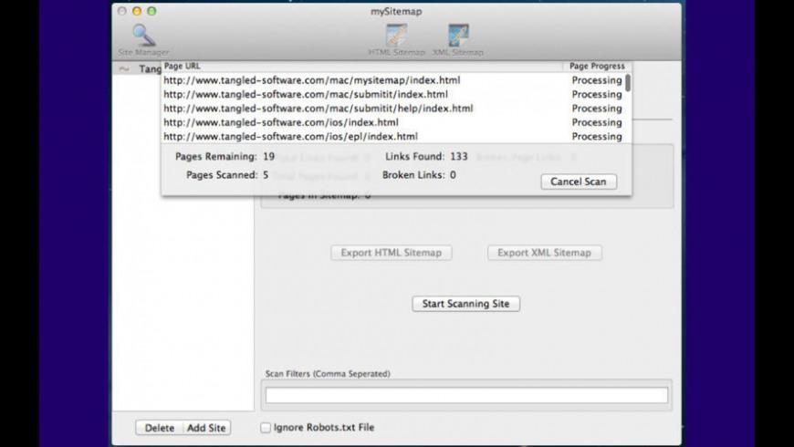 mySitemap for Mac - review, screenshots